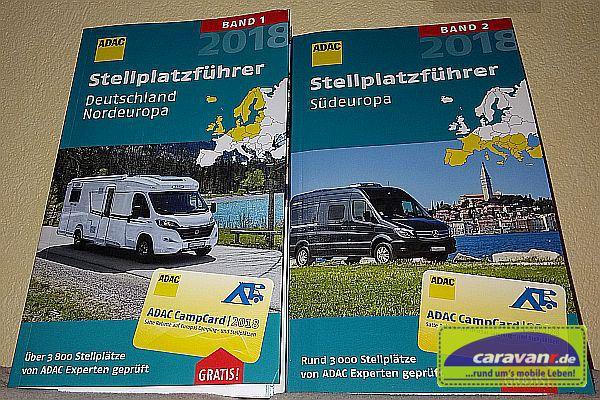 2 Bände ADAC Stellplatzführer 2018